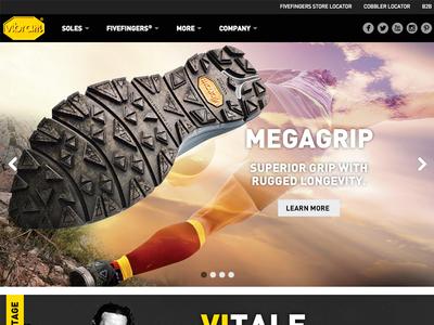Vibram Website Home Page
