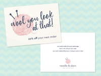 Needle Skein Thank You Card
