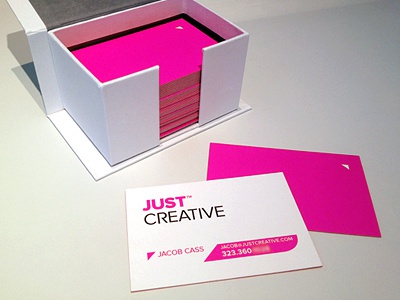 Just Creative Logo & Card business card logo card identity branding