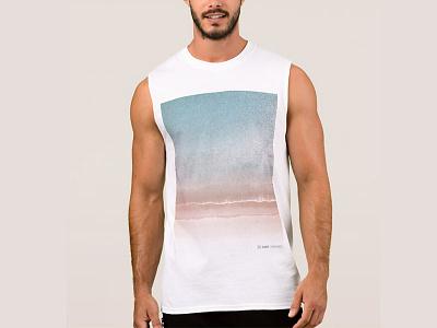 JUST A Calm Beach Tank Top sea ocean clothes waves beach drone shirt t shirt t-shirt tshirt