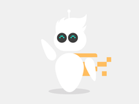 Robot Mascot Illustration