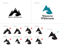 Waves To Wilderness Logo Exploration