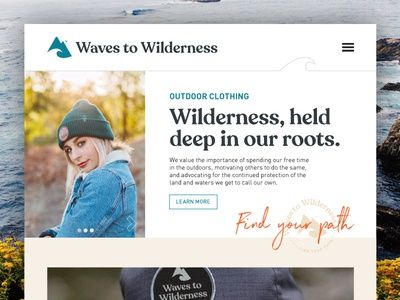 Waves To Wilderness Outdoor Clothing Website