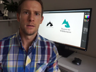 Waves to Wilderness Logo Process