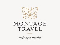 Montage Travel Butterfly Logo