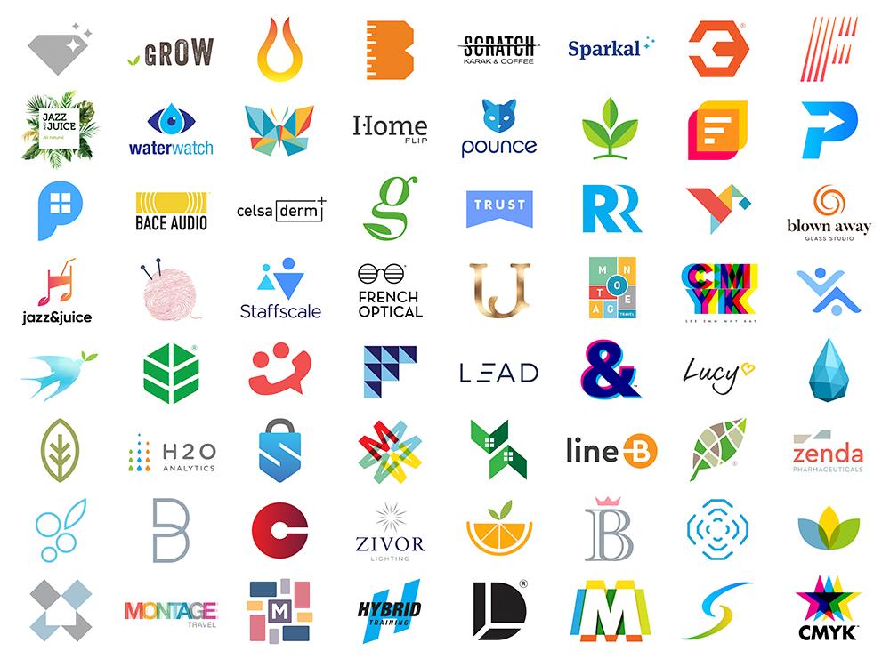 Select Logo Designs by Jacob Cass typography vector logo alphabet logo a day 3d logo design branding design logo