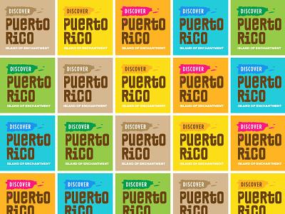 Puerto Rico Brand Color Exploration illustration identity island love puerto rico logo exploration color branding