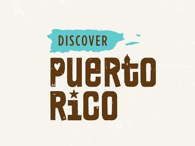 Discover Puerto Rico Logo Concept heart logo triangle star puerto rico