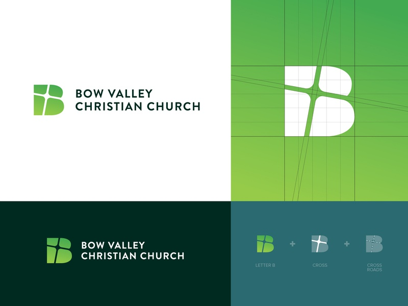 Bow Valley Christian Church Branding & Logo Design church branding logo logo design b religion christianity chirst cross branding church