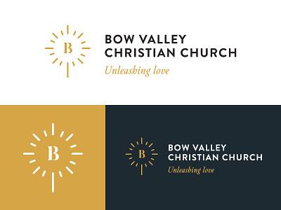 Church Branding Logo Design gold light cross religion christ logo design logo branding church