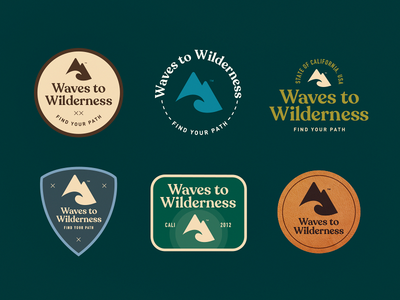 Waves To Wilderness Badges