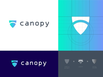Canopy Cyber Security Logo Branding