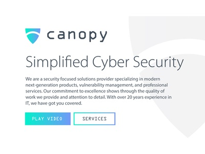 Canopy Cyber Security Typography