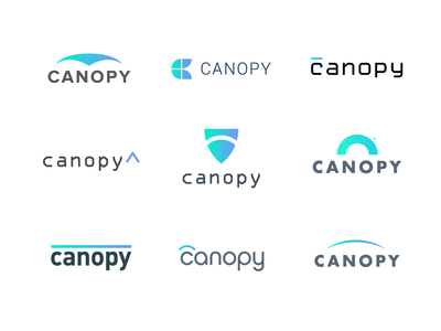 Canopy Cyber Security Logo Design Concepts