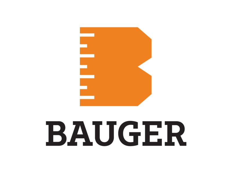 Bauger Construction Logo - Alphabet Logos 25/26 logo design branding logo slab serif 3d block orange construction ruler b