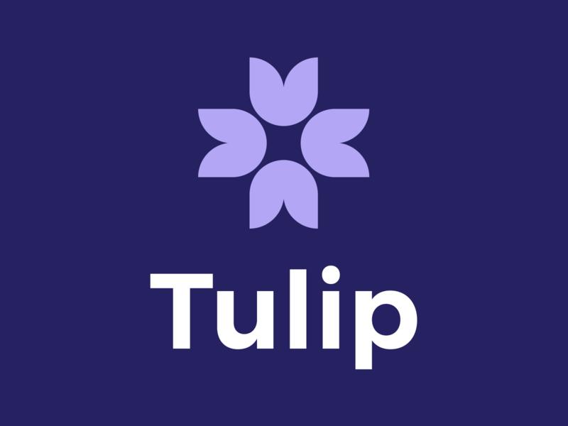 Tulip Logo Reverse branding purple logo design charity plus health logo flower