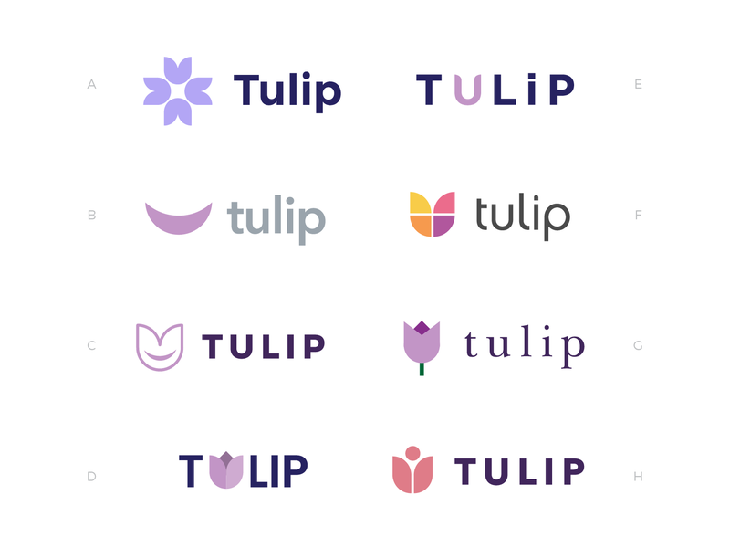 Tulip Logo Concepts purple sickle plus health charity branding flower tulip logo design logo