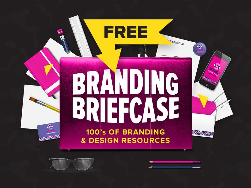 FREE Branding Briefcase Download - 100s of Resources briefcase freebie resources free logo logo design branding