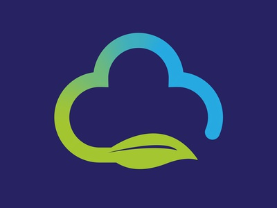 Cloud Leaf Recycle Logo Environment Branding