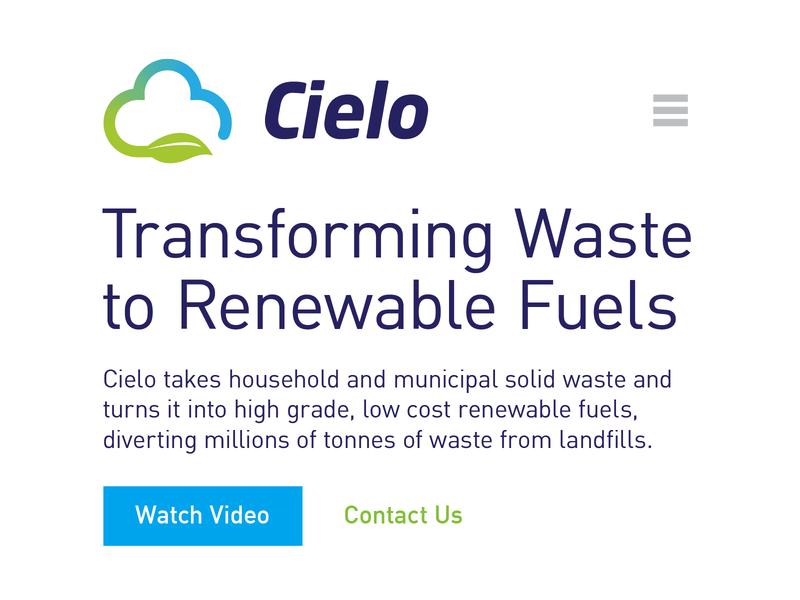 Cielo Branding & Logo Design environmental environment clean blue green recycle branding leaf cloud