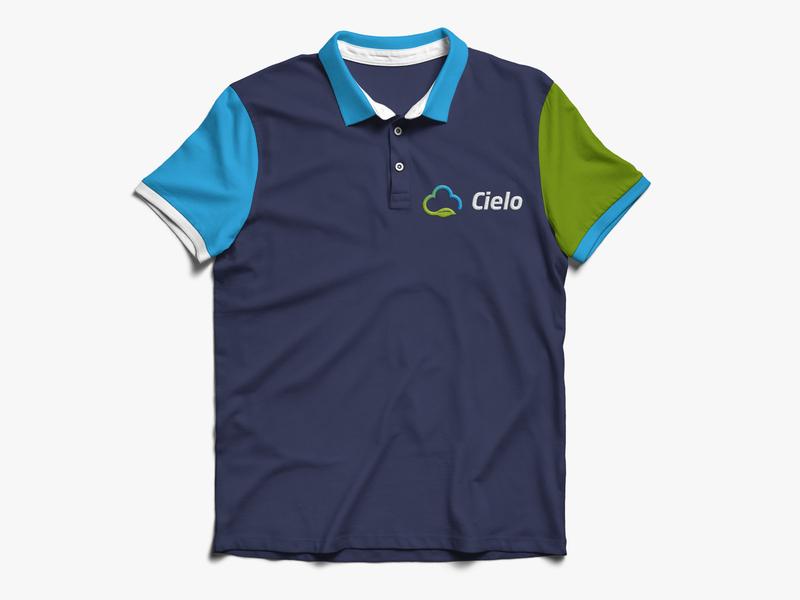 Cielo Uniform cloud leaf green blue branding shirt polo uniform