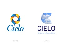 Cielo Rebranding Before and After