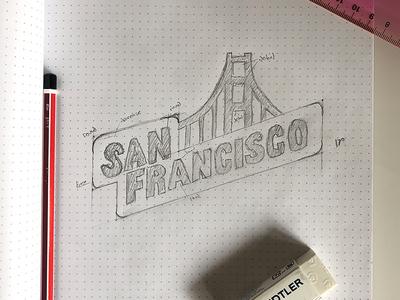 San Francisco Logo Sketch