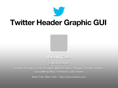 Twitter Header / Cover Photo Template GUI template twitter gui free cover header cover photo