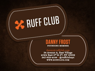 Ruff club business cards by jacob cass dribbble for Dog tag business cards