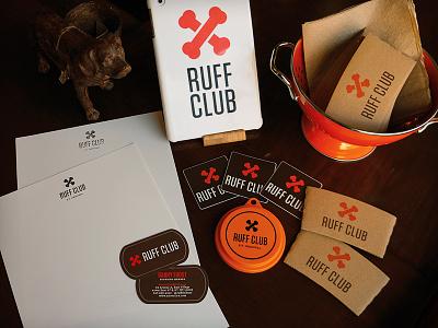 Ruff Club Swag ipad coffee dog tag club stationery branding