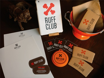 Ruff Club Swag ipad coffee dog tag club stationery branding