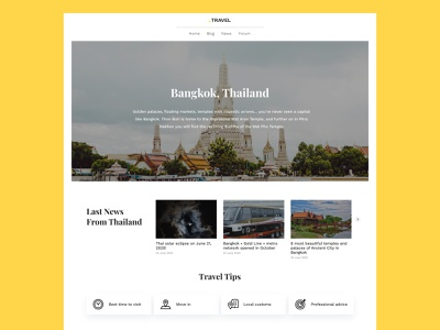 Daily UI Challenge #094 - News last news travel daily ui 94 website desktop daily ui challenge ui design ui daily ui