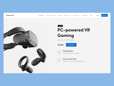 Daily UI Challenge #096 - Currently In-Stock virtual reality oculus rift in stock oculus website desktop daily ui challenge ui design ui daily ui