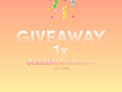 Daily UI Challenge #097 - Giveaway giveaway dribbble invite dribbble daily ui 97 daily ui challenge ui design ui daily ui