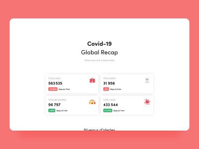 Covid-19 Global Recap - Desktop & Mobile onepager onepage france desktop mobile website design ui design ui covid