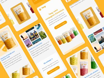 Tang - Rebranding soft product landing landing page clean design clean ui drink logo ui design ux branding design website desktop mobile app ui