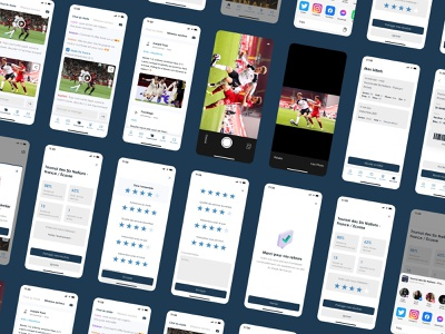 Stade de France App Concept - Community, Tickets & Feedback share chat photo notation feedback socialmedia tickets community ux design ux mobile app ui ui design clean design clean ui iphone minimal ios stade