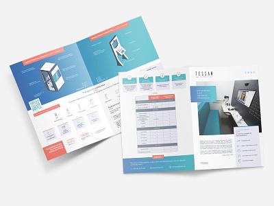 TESSAN - A4 Half Fold Flyer brochure flyer indesign illustration illustrator print photoshop