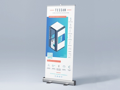 TESSAN - Kakemono/Roll-up Connected Medical Cabins