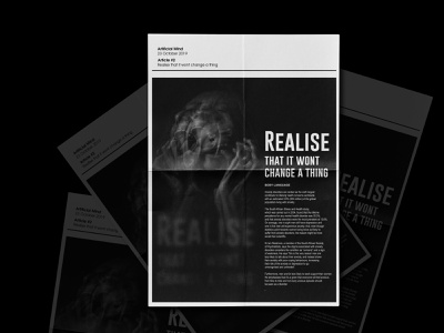 Realise Artificial Mind Poster #1 print social media social network designfeed type poster icographica black white visual art swiss poster dailyposter graphic black acid brand layout editorial design posters poster art visualarts poster design