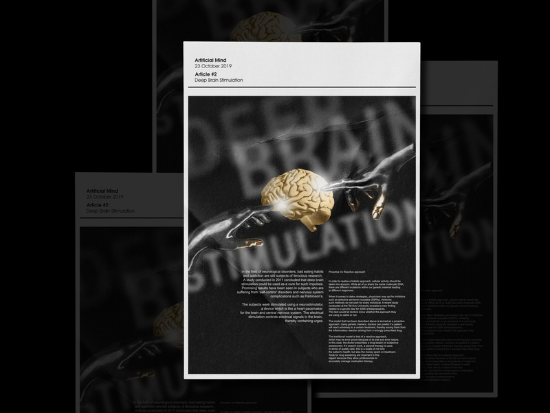 Deep Brain Simulation Artificial Mind Poster #2 posters layout poster print social media social network swiss poster type poster visual art daily poster graphic icographica editorial design brand design designfeed dailyposter black acid black white