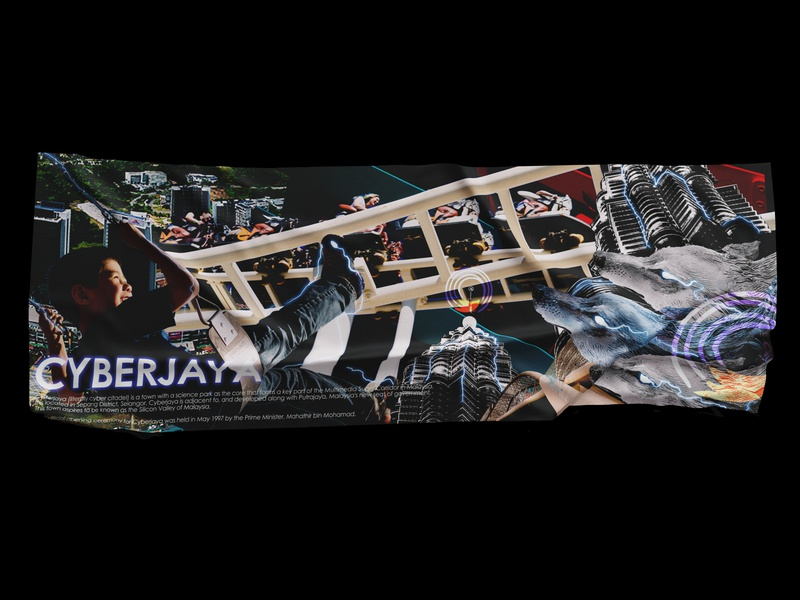 Cyberjaya : Technology Playground 🤖🦊 art landscape design posters poster landscape layout design social media designfeed editorial design dailyposter artwork instalation concept flyer collageart collage layout brand design