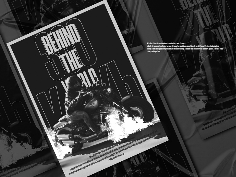 Behind the world 300 Km/h flyer for sale visual art artwork cover swiss poster print visual design social media design motorcycle black and white social network poster social media layout editorial design designfeed design dailyposter brand