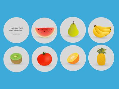 [Freebie] Flat Fruit: Vector Cartoon Fruit and Vegetables sketch freebie fruit flat flat fruit freebie free vector sketch vector art eps sketch resources freebbble