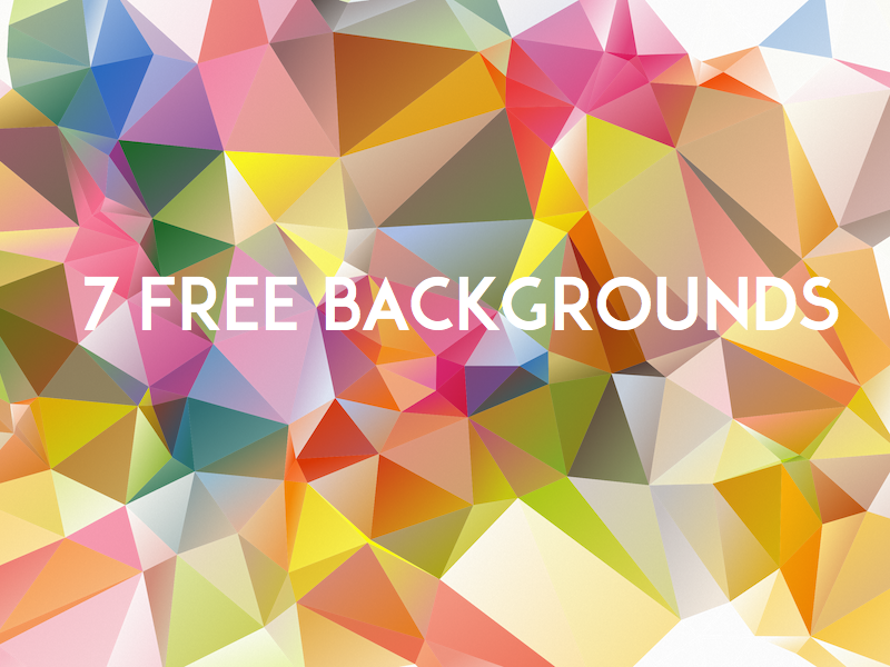 [Freebie] 7 Low Poly Backgrounds (svg & png) low poly freebie freebbble backgrounds geometry free faceted colorful