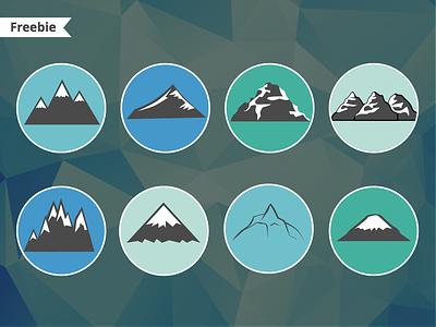 Free Vector Mountains sketch logos freebie freeble vector slopes mountain free sketch 3