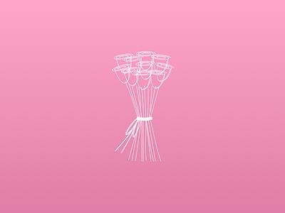 Roses sketch 3 illustration roses flowers pink