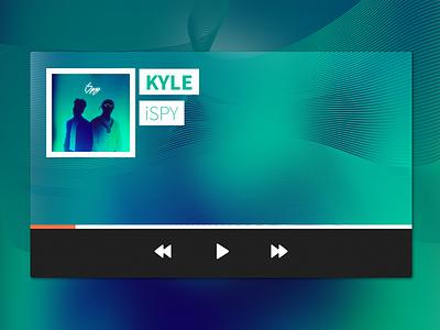 Music Player UI dailyui daily ui music player waves ui app music