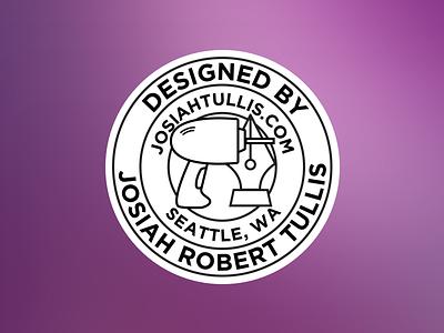 Personal Badge drill vector illustration bw circularlogo circle logo design logo badge
