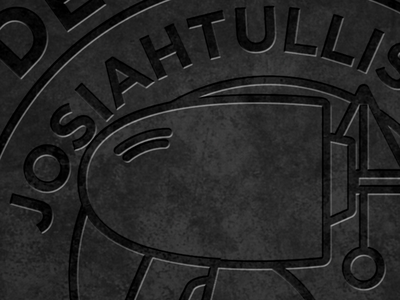 Letterpress Badge circle photoshop effects embossed letterpress badge branding personal
